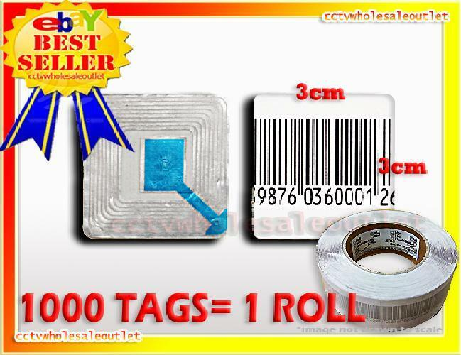 20000 PCS CASE CHECKPOINT BARCODE LABEL TAG 8.2  3X3 cm