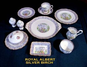 ROYAL ALBERT CHINA - SILVER BIRCH