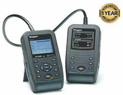 Megger Sct2000 Cat6 Cat5e Structured Lan Cable Tester Certifier Sct-2000