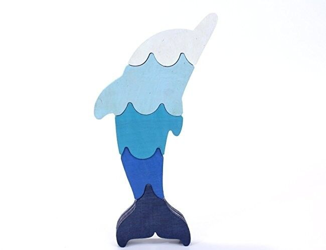 Blue Dolphin Puzzle and Decor