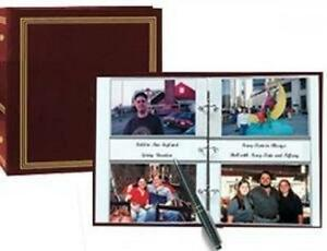 3-Ring 2-Up slip-in pocket BURGUNDY binder album for 400 photos - 4x6