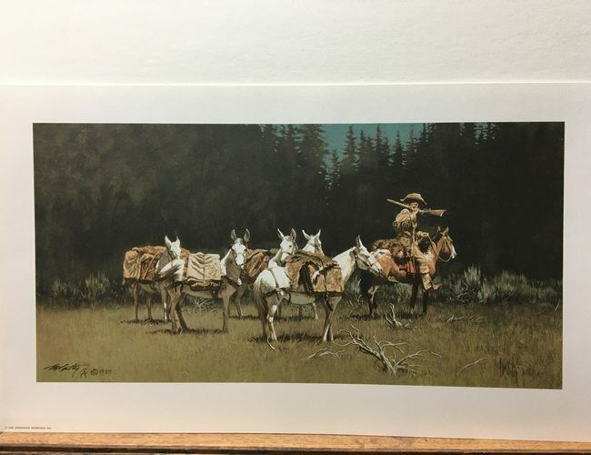 Frank McCarthy Alert Trader Mules Limited Edition Signed Art Print