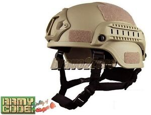 AC Gear MICH 2002 Style ACH Helmet w/ NVG Mount & Side Rail for Airsoft 3 COLOUR
