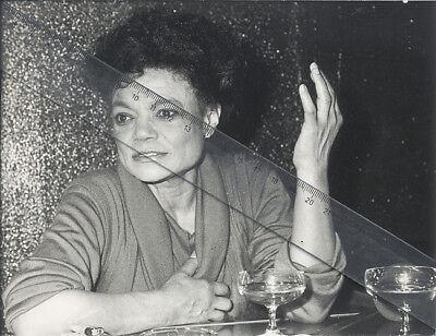 Foto amerikanische Sängerin EARTHA KITT- Vintage von 1984 Pressefoto - Jazz USA