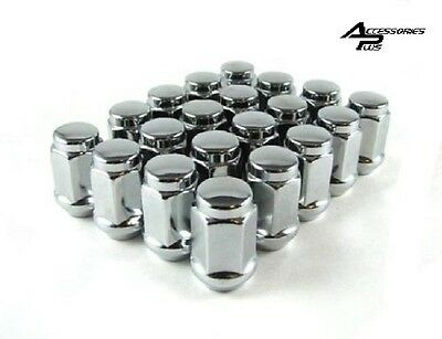 20 Pc CHROME SOLID ACORN BULGE LUG NUTS CHEVY S-10 12mm x 1.5 # AP-1907