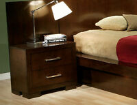 NEW! Cappuccino Platform Bedroom Set with Lights