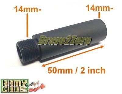 50mm / 2 inch Barrel Extension Adapter for Airsoft AEG GBB (14mm CCW thread) comprar usado  Enviando para Brazil