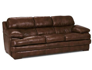 Brown Leather Couch Windsor Region Ontario image 1