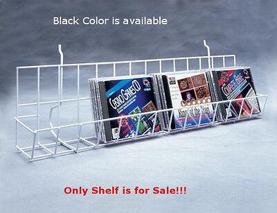 Case Of 4 New Black Finished Slatwall Cddvds Shelf 48 Wide