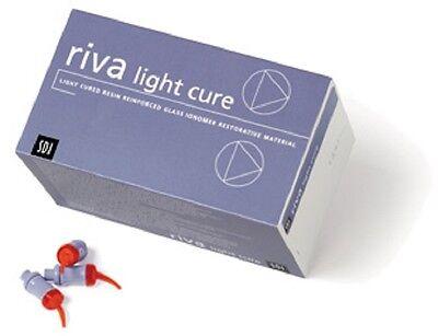 Dental Sdi Riva Lc Light Cure Glass Ionomer Capsules - A3 Color -