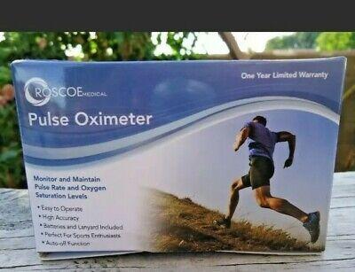 Roscoe Medical Finger Pulse Oximeter O2 Monitor Pulse Ox Finger Oxygen Monitor