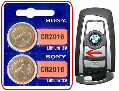 BMW 650i 750i M5 M6 2006-2013 Battery 2-Pack Sony CR2016 to Keyless Entry Remote