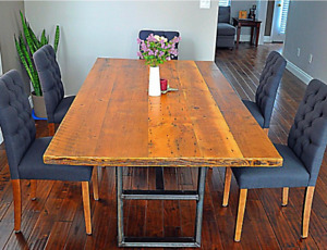 All Canadian Custom Reclaimed Dining Tables and Furniture!
