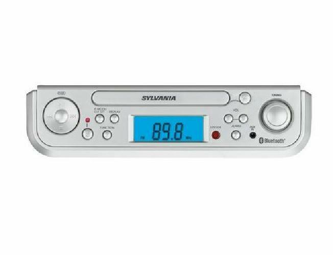 Sylvania SKCR2713 Under Counter CD Player with Radio and Blu