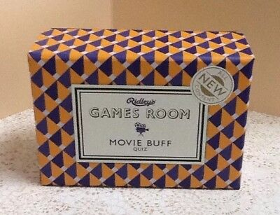 New Ridley's Games Room Movie Buff Quiz Movie Trivia Party Game All New Content!
