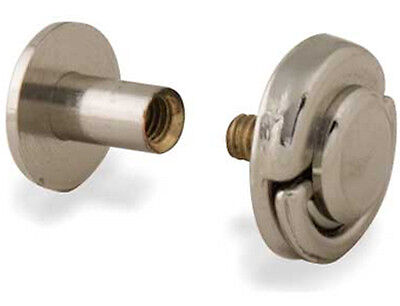 """2 PK 1/4"""" Nickel Screw Post With DEE Rings 1290-07 Tandy Leather Chicago Screws"""