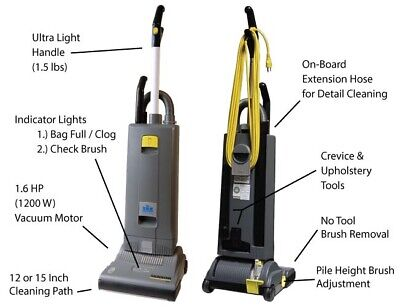 Windsor Sensor S15 Commercial Upright Vacuum Cleaner. Brand New