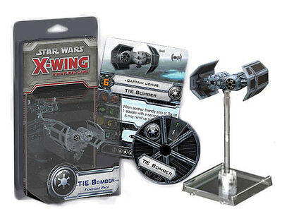 STAR WARS X-WING MINIATURES GAME TIE BOMBER EXPANSION PACK NEW IN BOX