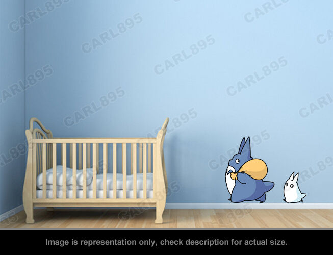 Ghibli Totoro - Totoro Chu / Totoro Chibi Wall Art Applique Stickers фото