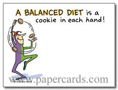 Balanced Diet Funny Sticky Notes Post It Note Pad By Oatmeal Studios