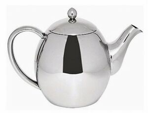 Sabichi 1200ml Quality Double Wall Stainless Steel  Insulated Teapot Tea Pot NEW