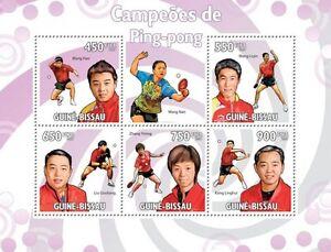 Table Tennis Champions m/s Guinea-Bissau 2009 MNH Mi.4474-78 #GB9611a - Olsztyn, Polska - Table Tennis Champions m/s Guinea-Bissau 2009 MNH Mi.4474-78 #GB9611a - Olsztyn, Polska
