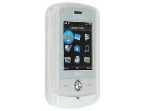 Clear Silicone Skin Cover Case For LG Shine CU720