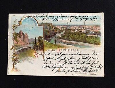 Postkarte Gruss aus Bad Kreuznach 1889