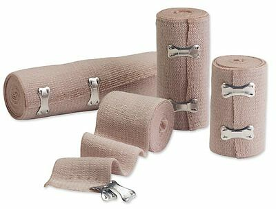 "Combo Pack of 2"" 3"" 4"" 6"" Ace Style Elastic Sports/Body Wrap Bandages Latex Free"