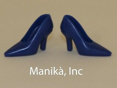 Randall Craig RTW Blue Pointed Toe Pumps (Spikes) for 12-inch Fashion Dolls