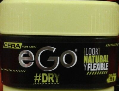 Dry Hair Wax (EGO CERA HAIR WAX FOR MEN 25g - DRY NATURAL Y FLEXIBLE LOOK- FREE 1st CLASS)