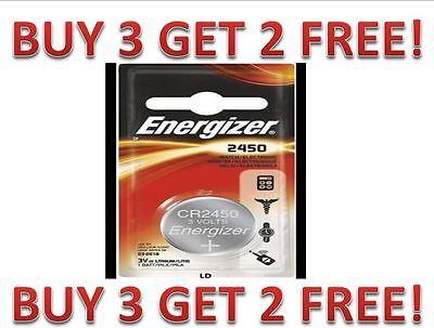 Energizer ECR2450 CR2450 BR2450 DL2450 Lithium 3V Battery NEW BUY 3 GET 2 FREE!!