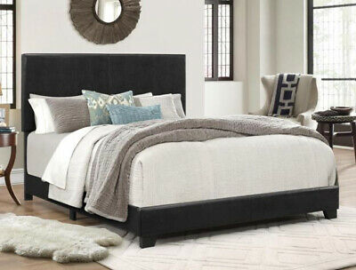 King Size Bed Frame Headboard Faux Leather Bed Verstile Mode