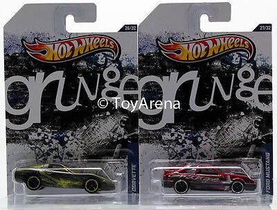 Hot Wheels Jukebox Grunge '97 Chevy Corvette & '92 Ford Mustang Wal-Mart 2013