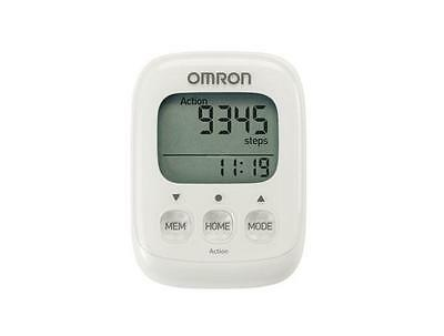 Omron HJ325-EW Walking Style IV Pedometer Calories Burned 3D Sensor White - New