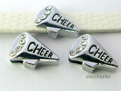 Personalized Cheer Megaphones (wholesale 5pc 8mm cheer megaphone charms for 8mm bracelet collar)