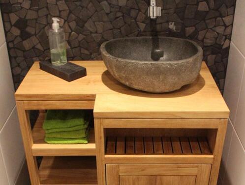 ≥ natuurstenen wasbak riviersteen waskom wastafel sanitair