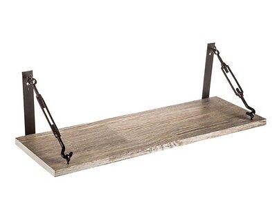 Gray Industrial Barn wood Shelf Wall Mounted DESK Floating GREAT PIECE - Capital Shelf