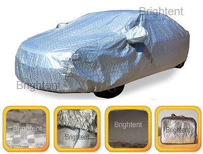 Deluxe 10 Layer 100  Waterproof Full Car Cover Aluminum Soft Cotton Lined Gchh3