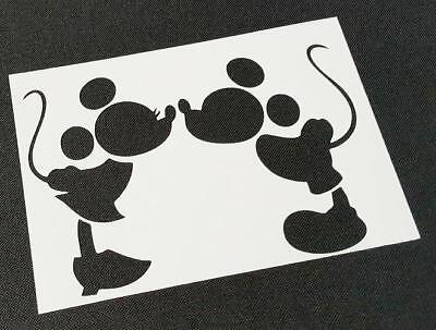 Disney Themed MICKEY MOUSE MINNIE Silhouette Stencils Party Decoration Craft Art (Mickey Mouse Party Theme Decorations)
