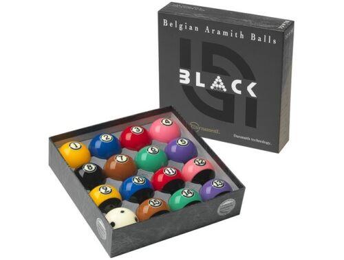 Aramith Tournament Black Billiard Pool Table Ball Set