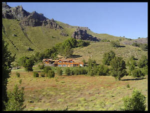 Log and stone home on 183 acres in San Martin de Los Andes