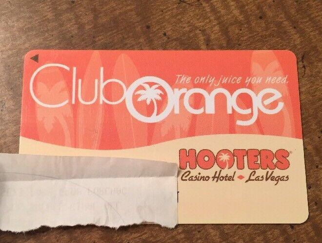 HOOTERS Hotel & Casino Las Vegas Club Orange Players Club Slot Card