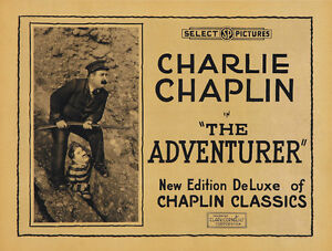The-Adventurer-1917-Charlie-Chaplin-movie-poster-print