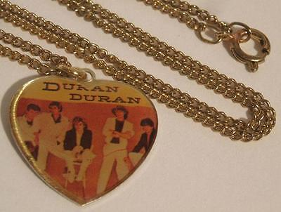 NEW NIP VTG 1980s DURAN DURAN HEART SHAPED NECKLACE JEWELRY ~ CHARM T SHIRT