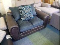 Grey fabric 2 seater sofa
