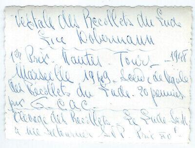 Photo snapshot un chien dobermann 1er prix 1948 - molosse - dog photo vintage