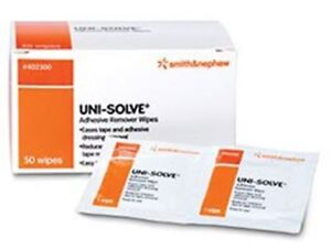 UNI-SOLVE Adhesive Remover Wipes, 50/BX