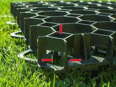 Rasengitter Paddockplatte 50x50 cm Reitplatzmatten Rasenmatten Rasenwaben Gitter