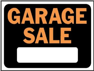 "(100) HY-KO 3023 9"" x 12"" Paste HY-GLO ORANGE & Interdict GARAGE Purchasing  SIGNS"